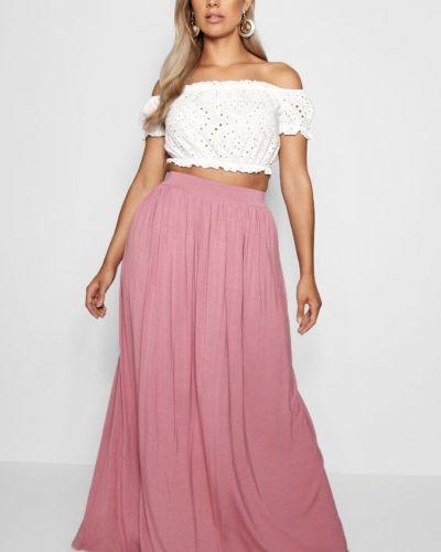 Юбка макси длинная - розовая Boohoo