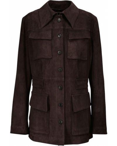Фиолетовая замшевая куртка Stouls