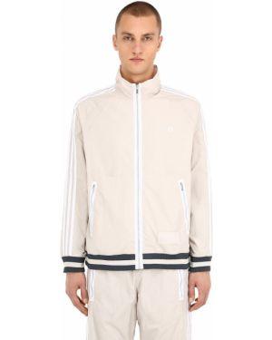 Brązowa ciepła bluza w paski Adidas Originals Statement