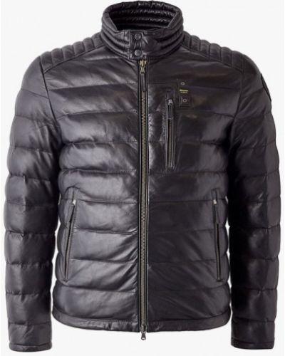 Кожаная куртка черная осенняя Blauer