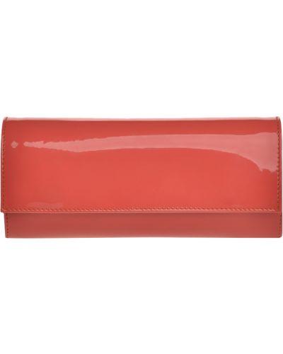 Клатч на молнии лаковый красный Loriblu