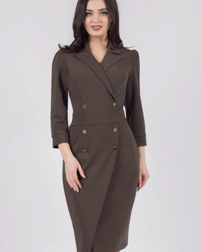 Платье миди - коричневое Grey Cat