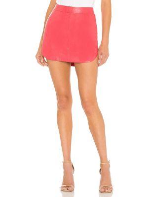 Кожаная юбка - розовая Karina Grimaldi