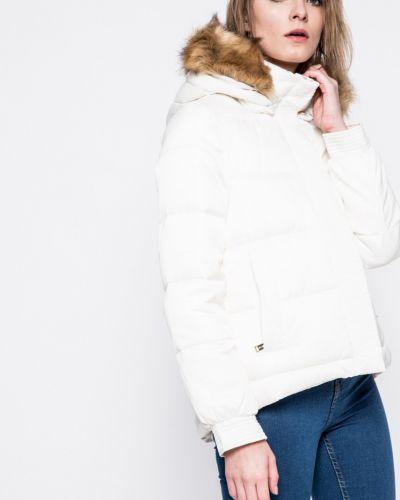 Стеганая куртка утепленная с капюшоном с мехом Guess Jeans