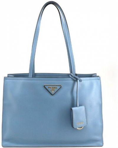 Niebieska torebka na plażę Prada