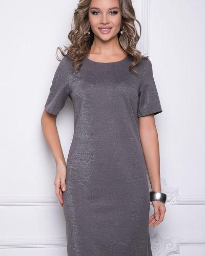 С рукавами трикотажное платье мини новогоднее Bellovera