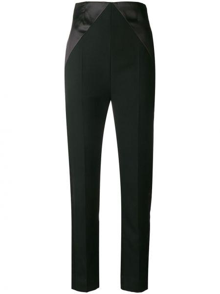 Шерстяные черные брюки с высокой посадкой Haider Ackermann