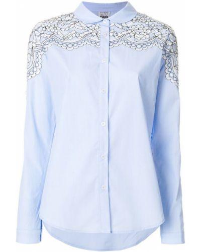 Синяя хлопковая классическая рубашка Twin-set