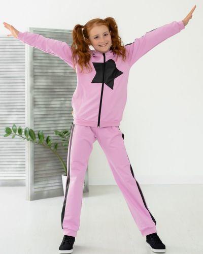 Спортивный костюм из футера с аппликациями с манжетами Looklie