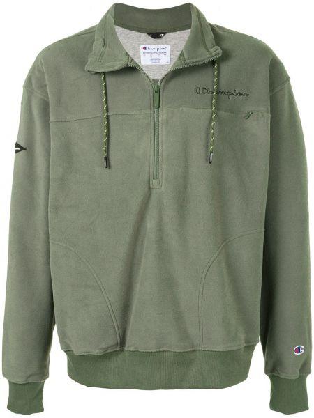 Zielona bluza z długimi rękawami Champion
