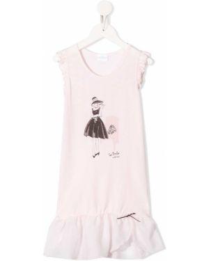 Koszula nocna różowy z nadrukiem La Perla Kids