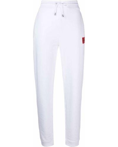 Хлопковые белые спортивные брюки с поясом Hugo