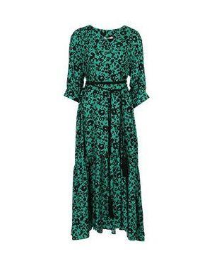 Зеленое повседневное платье из вискозы Vuall