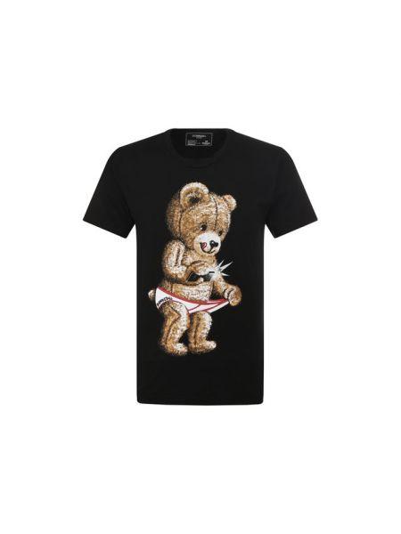 Хлопковая черная футболка Dom Rebel