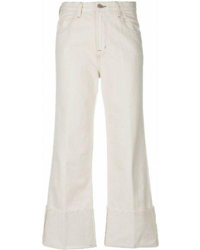 Широкие джинсы укороченные белые J Brand