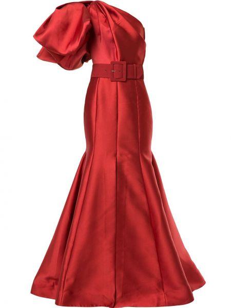 Платье на одно плечо с драпировкой Solace London
