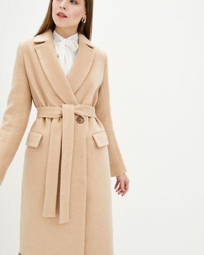 Пальто с поясом - бежевое Danna