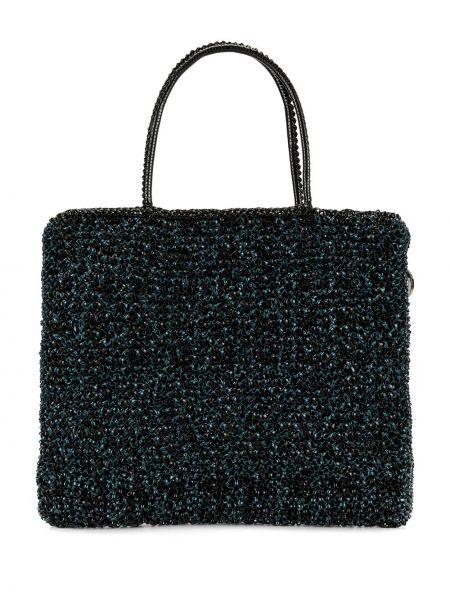 Синяя сумка-тоут Anteprima