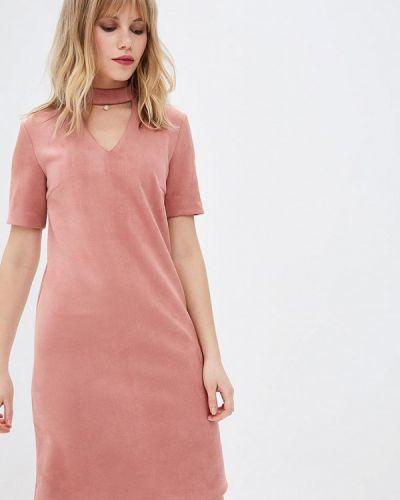 Платье розовое осеннее Zarina
