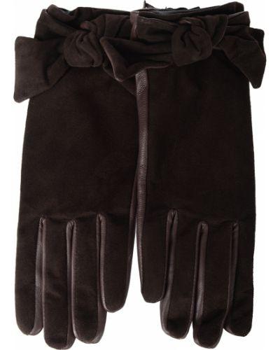 Кожаные перчатки замшевые коричневый Twin-set