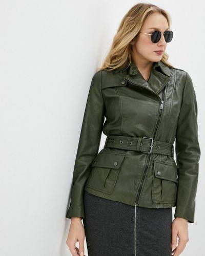 Зеленая кожаная куртка снежная королева