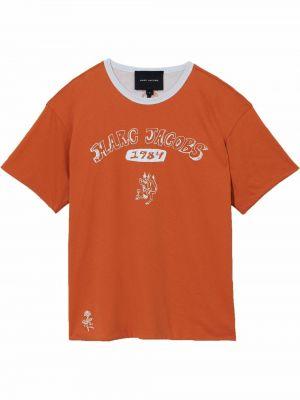 Лонгслив с принтом - оранжевая Marc Jacobs