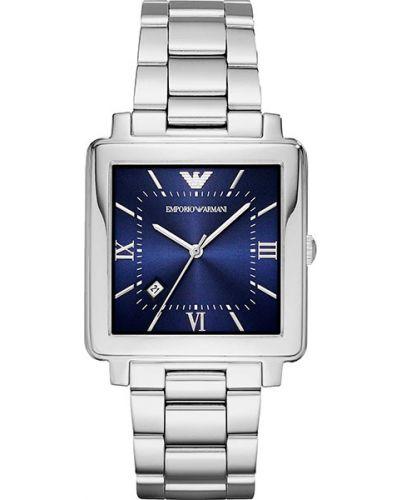 Часы водонепроницаемые квадратные синий Emporio Armani