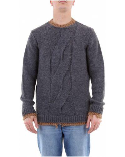 Prążkowany sweter z długimi rękawami Messagerie