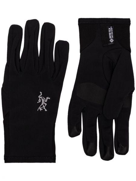 Czarne rękawiczki z nylonu Arcteryx