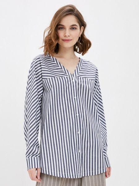 Блузка с длинным рукавом синяя весенний Tantino