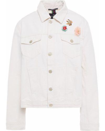Ватная белая джинсовая куртка с карманами Ps Paul Smith