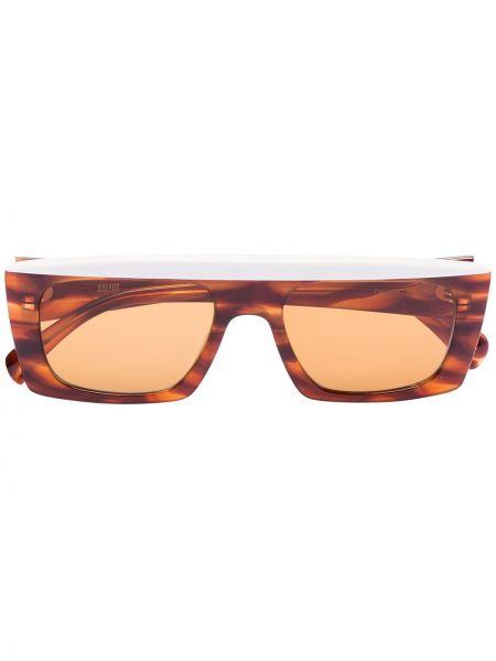 Прямые муслиновые солнцезащитные очки прямоугольные хаки Kaleos