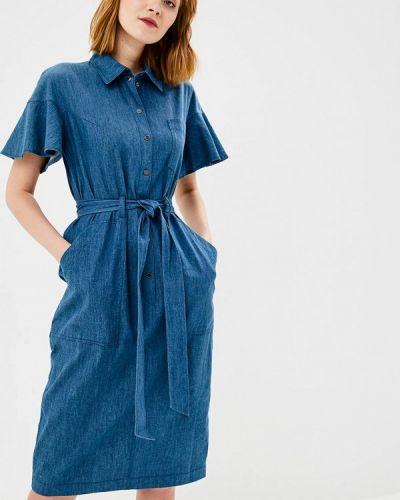 Джинсовое платье синее Chapurin