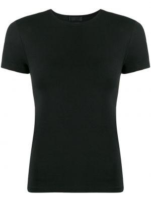 Czarny t-shirt bawełniany krótki rękaw Atm Anthony Thomas Melillo