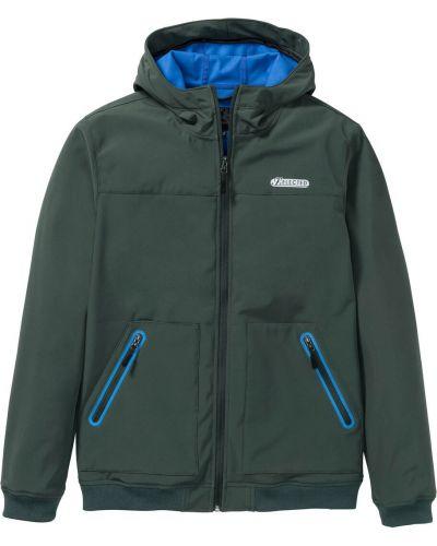 Куртка софтшелл зеленая Bonprix