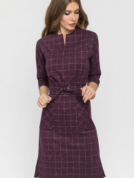 Платье осеннее прямое Clever Woman Studio