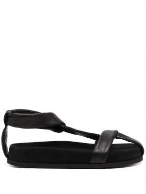Czarne sandały peep toe Neous