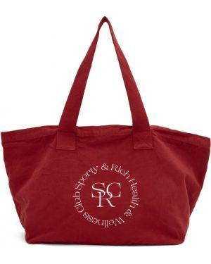 Torba na ramię z logo z nadrukiem Sporty And Rich