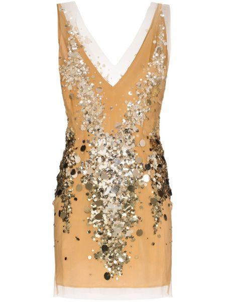 Платье мини с декольте сетчатое без рукавов для танцев Faith Connexion