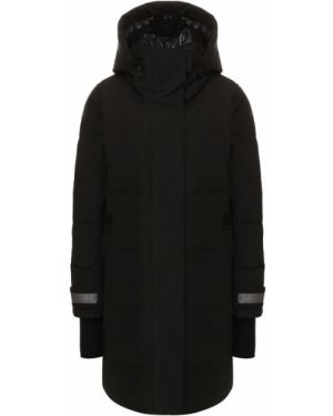 Куртка с капюшоном черная нейлоновая Canada Goose