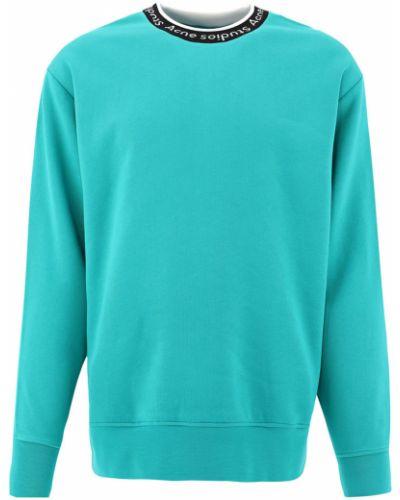 Zielony sweter z długimi rękawami Acne Studios