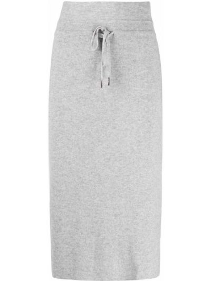 Шерстяная юбка миди - серая Max & Moi