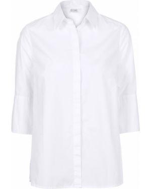 Блузка с длинным рукавом с баской классическая Bonprix