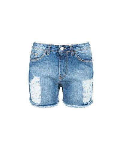 Хлопковые шорты - голубые Blugirl