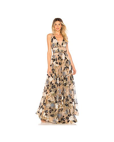 Вечернее платье с вышивкой с бисером Bronx And Banco