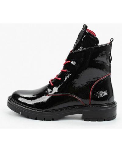 Лаковые кожаные черные ботинки осенние Betsy