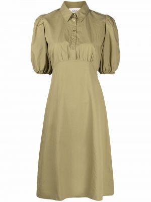 Зеленое платье рубашка Ba&sh