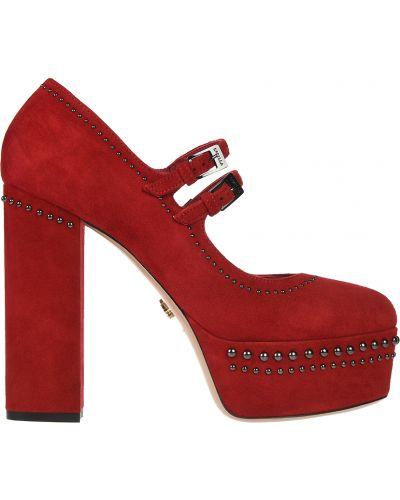 Кожаные туфли - красные Le Silla