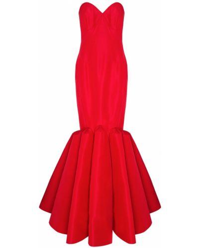 Шелковое красное платье макси Zac Posen