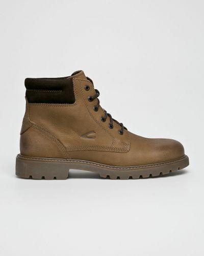 Ботинки на шнуровке кожаные высокие Camel Active